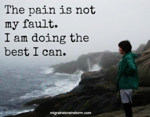 the pain is not my fault